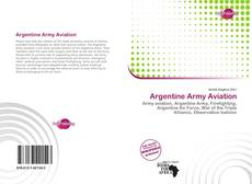 Bookcover of Argentine Army Aviation