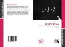 Bookcover of Ernst G. Straus