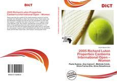 Couverture de 2005 Richard Luton Properties Canberra International Open – Women
