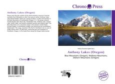 Обложка Anthony Lakes (Oregon)