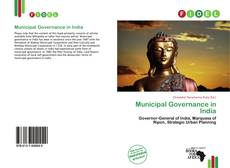 Capa do livro de Municipal Governance in India