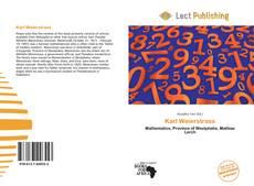 Buchcover von Karl Weierstrass
