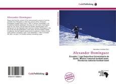 Portada del libro de Alexander Domínguez