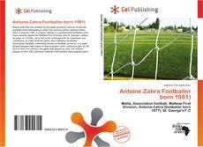 Buchcover von Antoine Zahra Footballer born 1981)