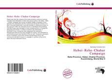 Buchcover von Hebei–Rehe–Chahar Campaign