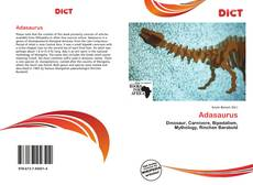 Bookcover of Adasaurus