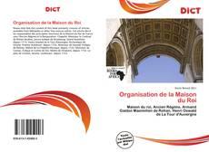 Portada del libro de Organisation de la Maison du Roi