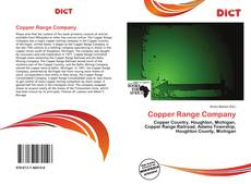 Copper Range Company的封面