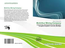 Bookcover of McArthur Mining Company