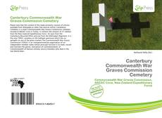 Capa do livro de Canterbury Commonwealth War Graves Commission Cemetery