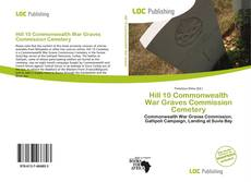 Portada del libro de Hill 10 Commonwealth War Graves Commission Cemetery