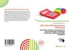 Copertina di John Ulric Nef (Economic Historian)