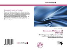 Capa do livro de Estonian Minister of Defence