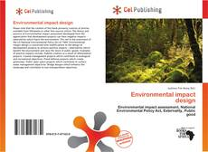 Copertina di Environmental impact design