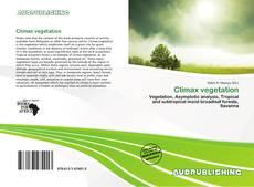 Bookcover of Climax vegetation