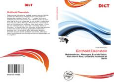 Bookcover of Gotthold Eisenstein