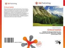 Bookcover of Critical habitat
