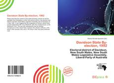Buchcover von Davidson State By-election, 1992