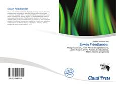 Bookcover of Erwin Friedlander