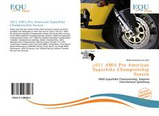 Portada del libro de 2011 AMA Pro American Superbike Championship Season