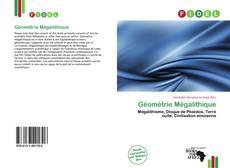 Couverture de Géométrie Mégalithique