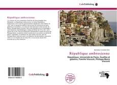 Capa do livro de République ambrosienne
