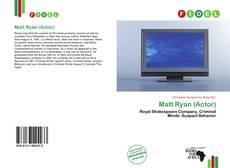 Capa do livro de Matt Ryan (Actor)
