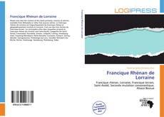 Couverture de Francique Rhénan de Lorraine