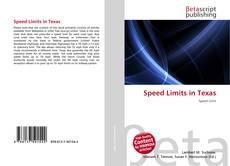 Speed Limits in Texas的封面