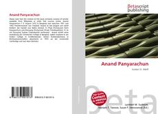 Bookcover of Anand Panyarachun