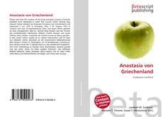 Bookcover of Anastasia von Griechenland