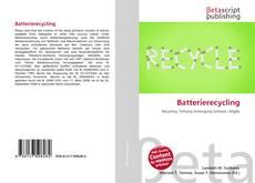 Batterierecycling kitap kapağı