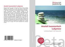 Capa do livro de Anatoli Iwanowitsch Lukjanow