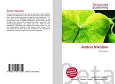 Buchcover von Andon Nikolow