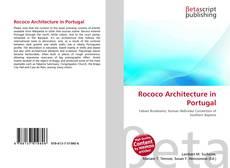 Bookcover of Rococo Architecture in Portugal