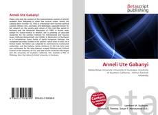 Bookcover of Anneli Ute Gabanyi