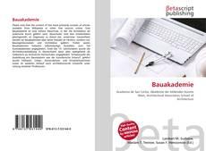 Buchcover von Bauakademie