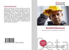 Buchcover von Baubetriebswesen