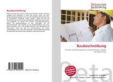 Capa do livro de Baubeschreibung