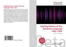 Buchcover von Spelling Reform of the Armenian Language 1922–1924