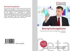Buchcover von Beanspruchungsklasse