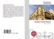 Capa do livro de Andrea Carlo Ferrari