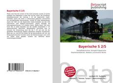 Bookcover of Bayerische S 2/5