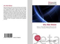 Capa do livro de Utu Abe Malae