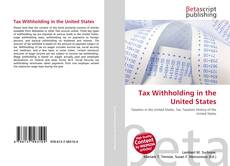 Bookcover of Tax Withholding in the United States