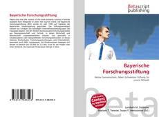 Bookcover of Bayerische Forschungsstiftung