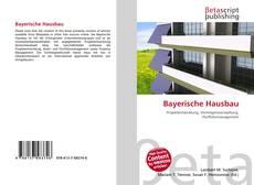 Capa do livro de Bayerische Hausbau