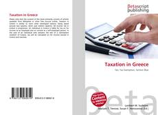 Bookcover of Taxation in Greece