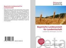 Couverture de Bayerische Landesanstalt für Landwirtschaft