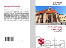 Обложка Andreas Bauer (Theologe)
